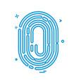 thumb impression icon design vector image