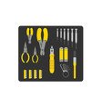 tool set for repairing computer vector image