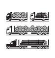 trucks for transport wooden logs vector image vector image