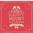 Valentines Day Border Vintage Poster Background vector image vector image