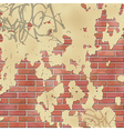 Wall with Plaster vector image vector image