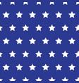 white stars on blue background grunge style vector image