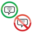 Wi-Fi message permission signs vector image vector image