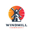 windmill generator logo design your company vector image
