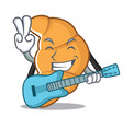 with guitar croissant character cartoon style vector image vector image