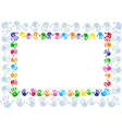 Hand paint print frame vector image