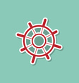 Helm marine ship on a blue background Modern style vector image