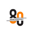 80th celebrating anniversary emblem logo design