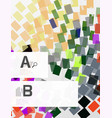 Abstract geometrical texture with infographic