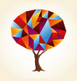 abstract shape tree concept in vibrant colors vector image