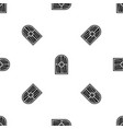 arched window pattern seamless black vector image vector image