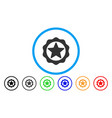 award star seal rounded icon vector image vector image