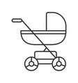 baby carriage linear icon