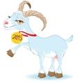 Blue Goat Symbol 2015 vector image