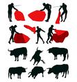Bullfighting matadors vector image vector image