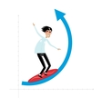 Businessman overcomes wave vector image vector image