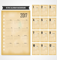 Calendar for 2017 on grey background vector image vector image