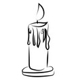 candle sketch on white background vector image vector image