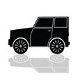 car in black color vector image
