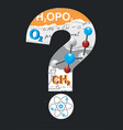 chemistry question mark vector image vector image