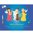 christmas angels singing on heaven vector image vector image
