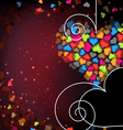 Colorful Valentine hearts Abstract Valentines Day vector image vector image