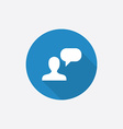 conversation Flat Blue Simple Icon with long vector image