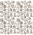 Cooking icons seamless pattern vector image vector image