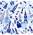 cosmic seamless pattern cartoon children vector image