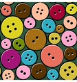 Cute pattern with abstract buttons vector image vector image