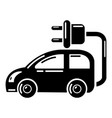 electric car icon simple style vector image vector image