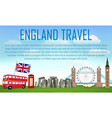 england travel with landmarks and icons england vector image