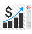 financial report flat icon with bonus vector image vector image