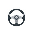 flat cars steering wheel design vector image