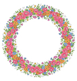 floral design wreath vector image vector image