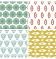 four tribal shapes abstract geometric patterns vector image vector image