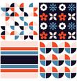 funky geometric midcentury seamless pattern vector image