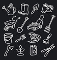 garden tools icons vector image vector image