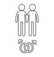 gender icon people icon design vector image