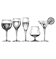 goblet set vector image vector image