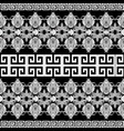 greek floral meanders seamless border pattern vector image
