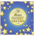 Greeting retro card Have sweet dreams vector image