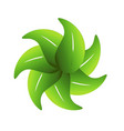 group of leafs together logo vector image