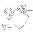 hand with gardener plastic sprinkler icon vector image