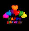 happy birthday balloon greeting card vector image vector image