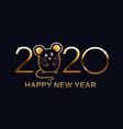 happy new year 2020 logo design vector image vector image