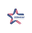 happy veterans day november 11th united state vector image