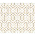 japanese gold background and pattern geometric pa vector image vector image