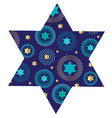 jewish star with mod background pattern vector image vector image