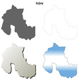 Jujuy blank outline map set vector image vector image